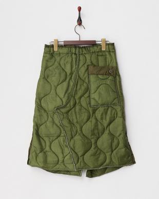 オリーブ アーミーラップスカート見る