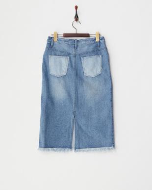 ブルー淡色  クレイジーOE DENIMスカート見る