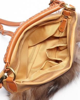キャメル  FOX付きバッグ見る