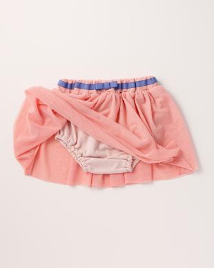 ピンク メッシュスカートブルマ入り見る