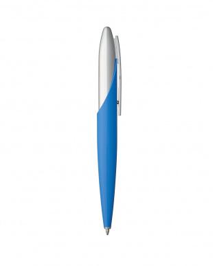 ライトブルー(コンポジット樹脂)×クローム ボールペン・JET8見る