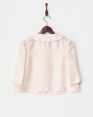 ピンク 格子ショートジャケット見る
