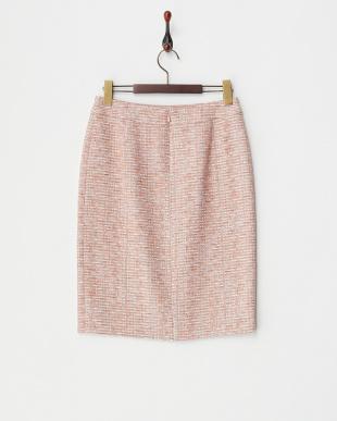 ピンク ラメツイードスカート見る