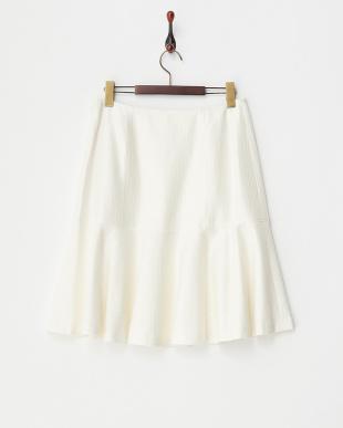 ホワイト  ペプラムスカート見る