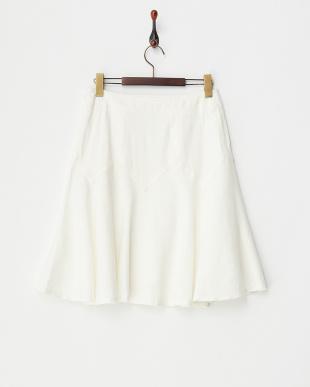 ホワイト  ジグザグ切替スカート見る