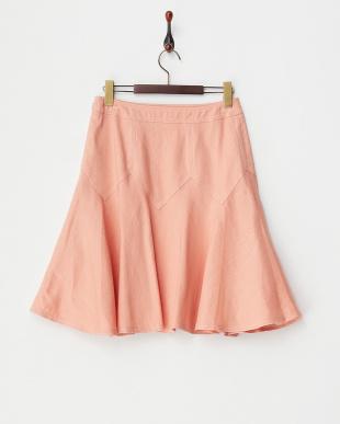 ピンク  ジグザグ切替スカート見る