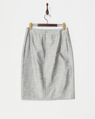 グレー シャンタンスカート見る