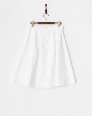 ホワイト フレアスカート見る