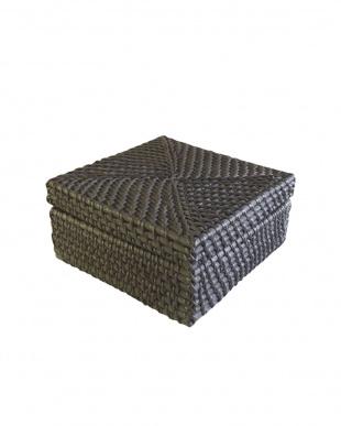 黒  ラタンミニボックス/キューブ見る