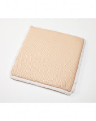 イエロー 洗える羊毛シートクッション 43×43見る