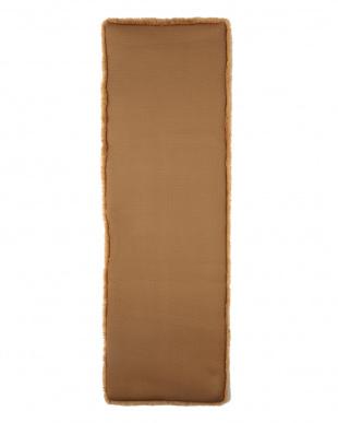 ブラウン  洗える羊毛マット 43×135見る