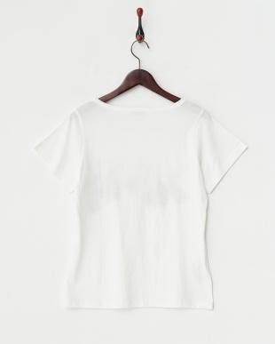 ホワイト バレリーナ柄Tシャツ見る