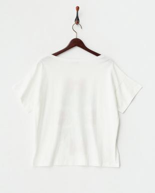 ホワイト 植物柄Tシャツ見る