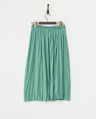 ブルー イージーギャザースカート見る