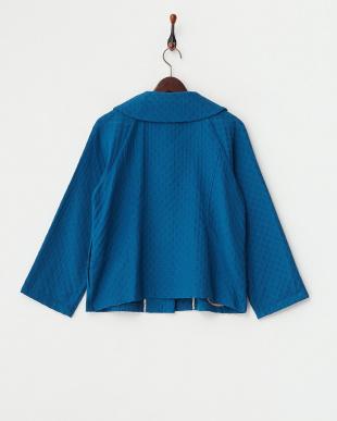 ブルー  ドット織り ジャケット見る