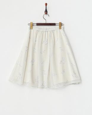 オフホワイト オリジナル小花柄スカート見る
