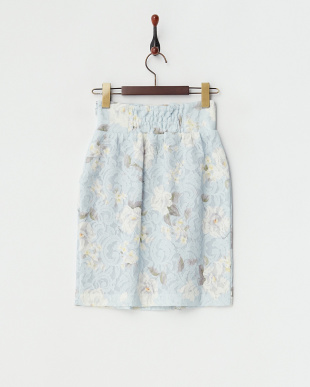 サックス レースボンディングタックタイトスカート見る
