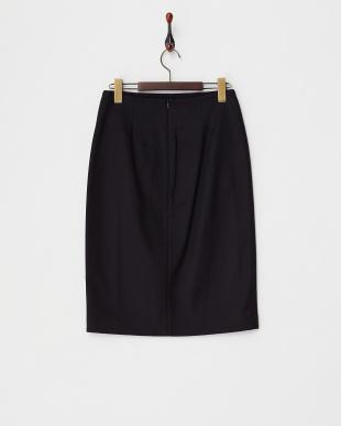 ブラック系 フロントラメ刺繍スカート見る