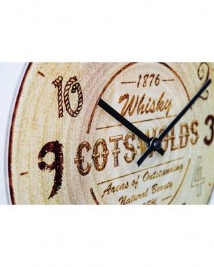 Cotswolds wood壁掛け時計見る