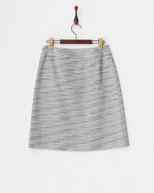 ダークグレー  ラメツイードスカート見る
