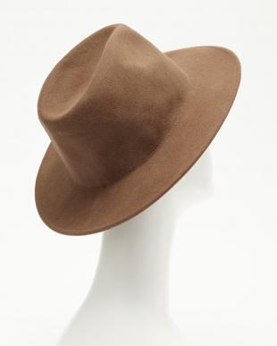 CAMEL  つば広フェルト帽見る
