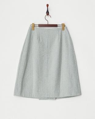 SAX  ヘリンボーンウールラップスカート見る