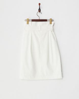WHITE ラップハイウエストスカート見る