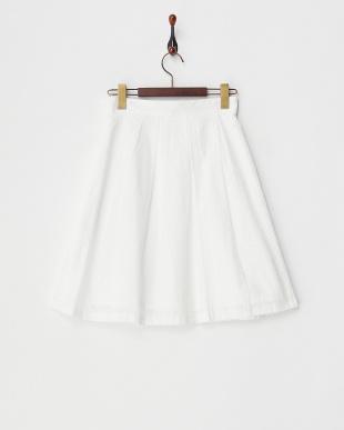 OFF WHITE パンチングレースBOXプリーツスカート見る