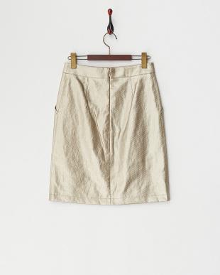 ゴールドA  リネンタイトスカート見る