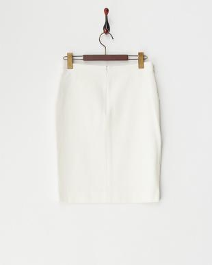 ホワイト  ドライタッチストレッチスカート見る