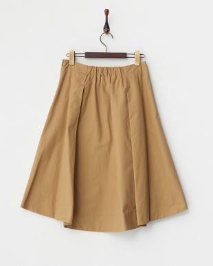 キャメル  ウエストリボンスカート見る
