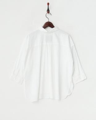WHITE  抜き襟オーバーシャツ見る