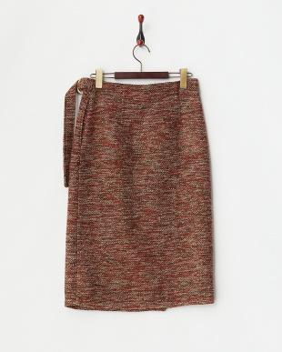 RED  ツイードラップスカート見る