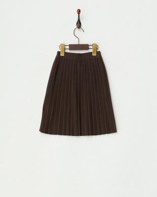 BROWN  ニットプリーツスカート見る