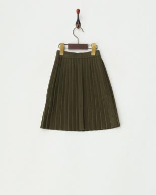 KHAKI  ニットプリーツスカート見る