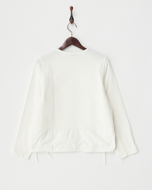 WHITE  SWEAT SHIRRED TOP見る