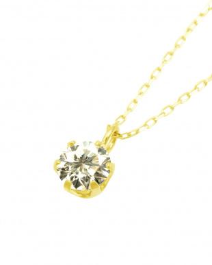 K18YG  天然ダイヤモンド 0.3ct SIクラス あずきチェーン ネックレス見る