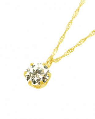 K18YG  天然ダイヤモンド 0.3ct SIクラス スクリューチェーン ネックレス見る