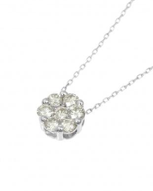 K18WG  天然ダイヤモンド 計0.3ct セブンストーンペンダント見る