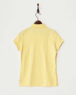 イエロー  スビンシルバー鹿の子 配色ポロシャツ見る