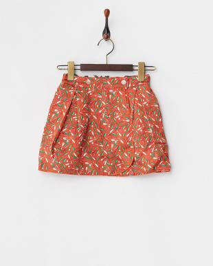 シロ×オレンジ リバーシブルラップスカート4Y~見る