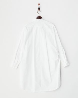 ホワイト ORIGAMI PLEATS オーバーシャツ見る