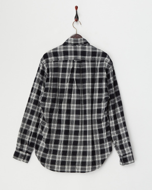 ブラックマルチ ネルチェックシャツ見る