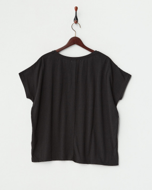 ブラック スラブ杢 ドルマン半袖プルオーバー見る