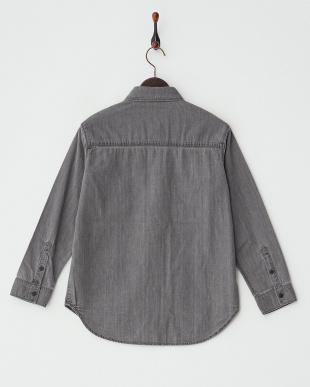 ブラック  6.2oz Wポケ長袖シャツ見る