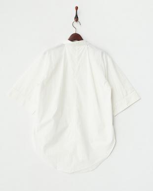 ホワイト  タイプライター 抜き衿ビッグシャツ見る
