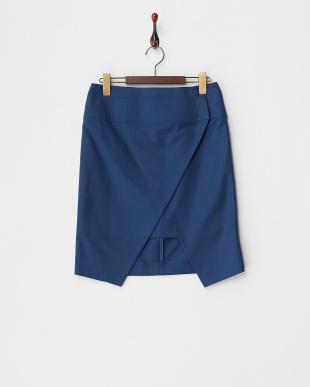 navy blue  CANZONE ラップスカート見る