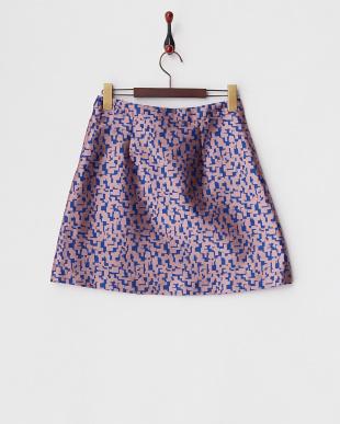 ピンク ILLER 幾何学柄スカート見る