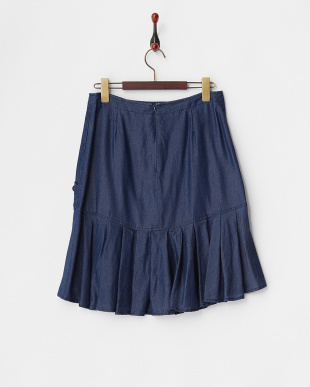 ブルー ミリタリー風テンセルデニムスカート見る