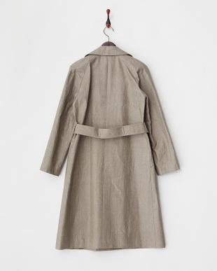グレージュ マリーニ社リネン素材コーティングコート見る